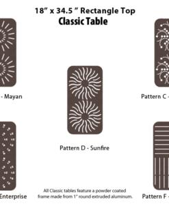 C-18X34SQPUNCH - 18 x 34.5 inch Rectangular Table