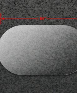 36x54A Oval Acrylic Top