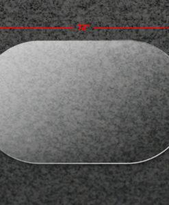 42x72A Oval Acrylic Top