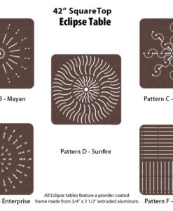 E-42SQPUNCH - 42 inch Square Table