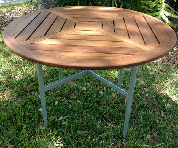 Quantum teak dining table florida pool furniture for Quantization table design revisited for image video coding